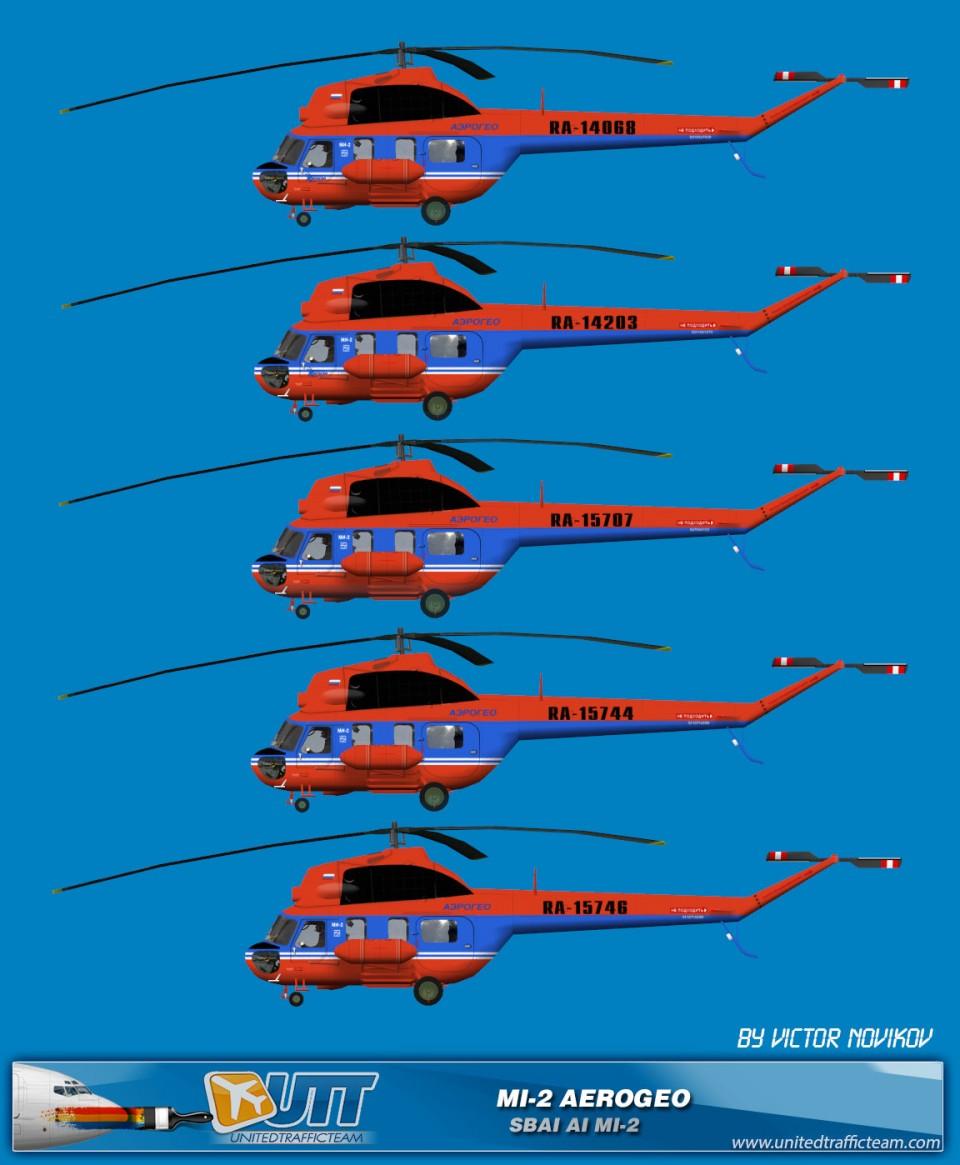 Aerogeo AI Helicopters Mi-2