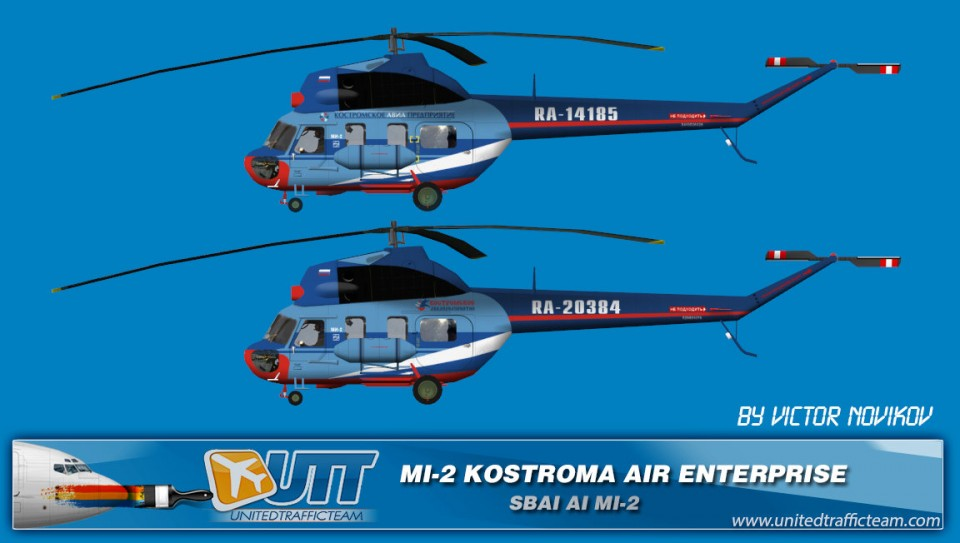KOSTROMA AIR ENTERPRISE AI Helicopters Mi-2