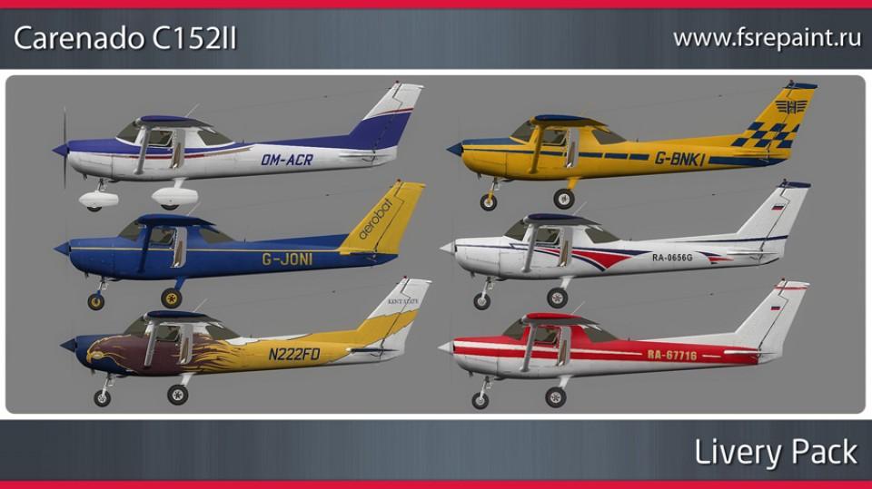 Carenado Cessna C152II - Livery Pack