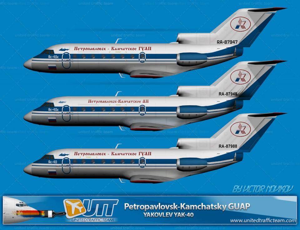 Petropavlovsk-Kamchatsky GUAP Yakovlev Yak-40