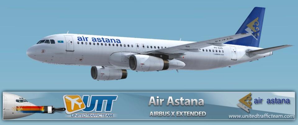 Airbus X Extended A320 Air Astana P4-XAS