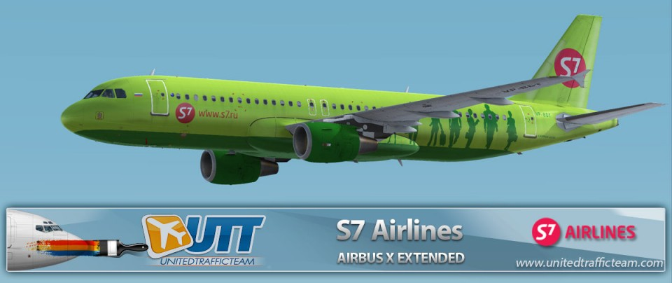 Airbus X Extended A320 S7 Airlines VP-BDT