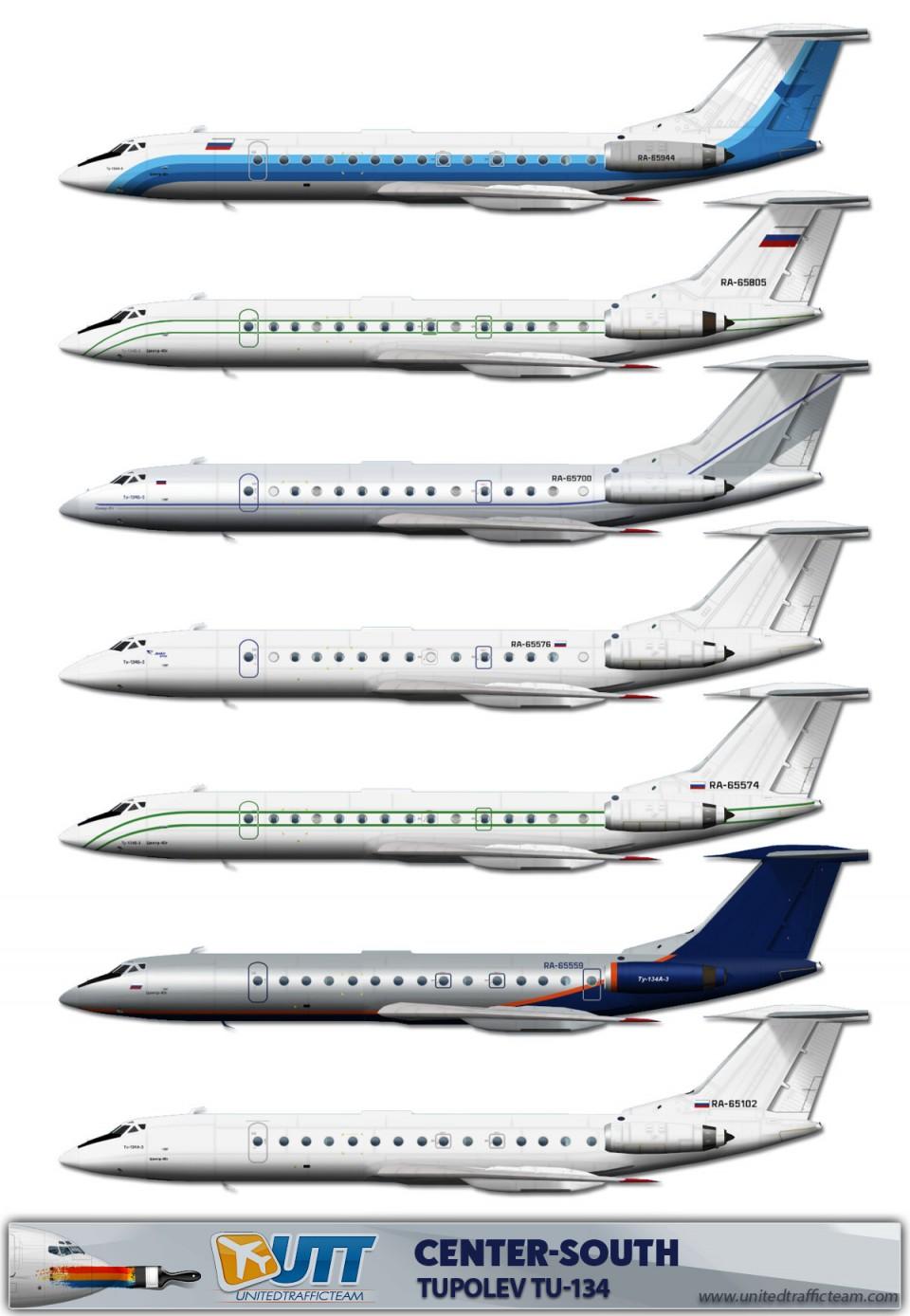 Center-South Tupolev Tu-134