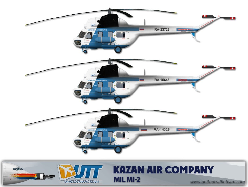 Kazan air company Mil Mi-2