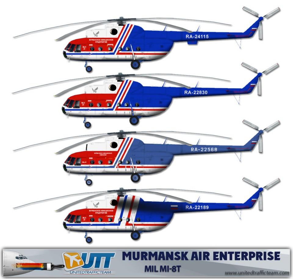 Murmansk Air Enterprise Mil Mi-8T