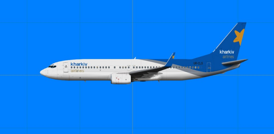Kharkiv Airlines Boeing 737-800.