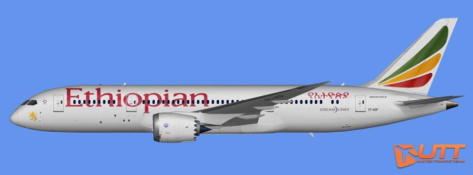 Ethiopian Airlines Boeing 787-8 Dreamliner Pack (FSX,Prepar3D)