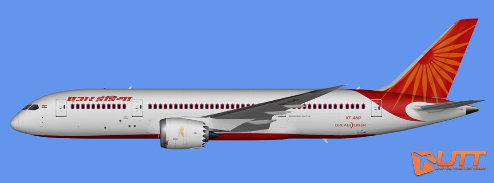 Air India Boeing 787-8 Dreamliner Pack