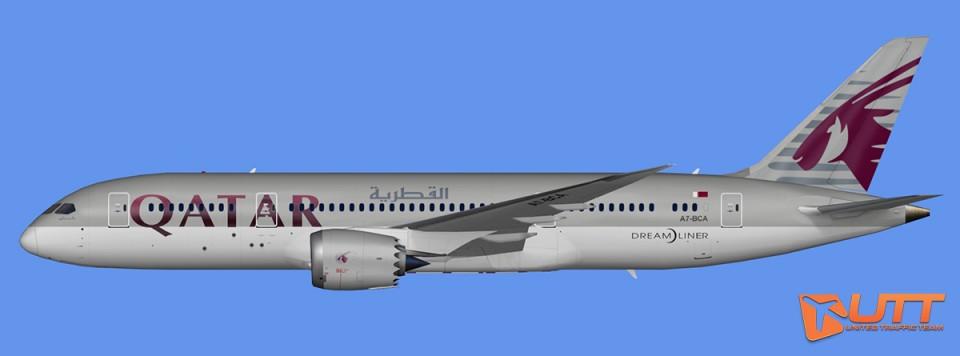 Qatar Airways Boeing 787-8 Dreamliner Pack (FSX,Prepar3D)