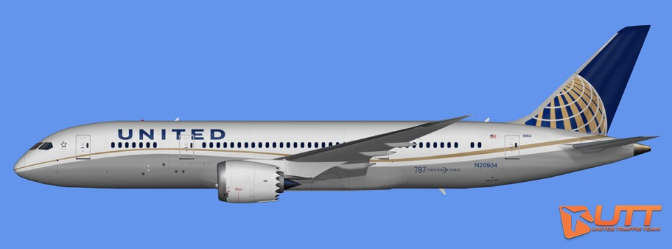 United Airlines Boeing 787-8 Dreamliner Pack