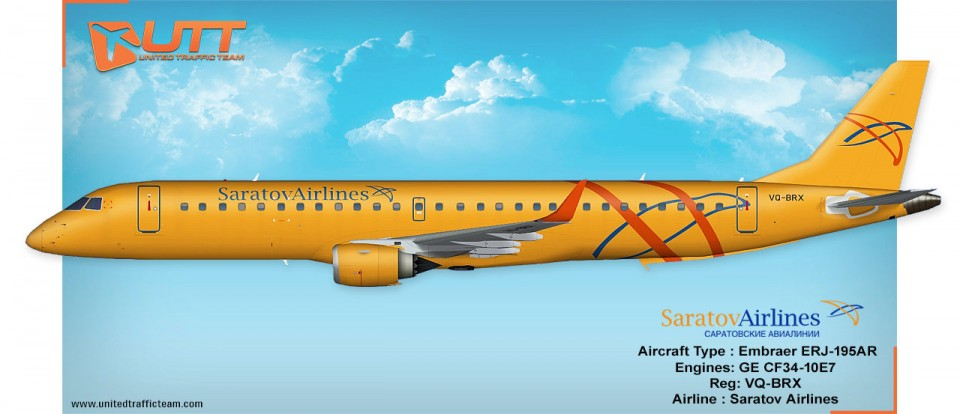 UTT Saratov Airlines AIA Embraer 195 VQ-BRX