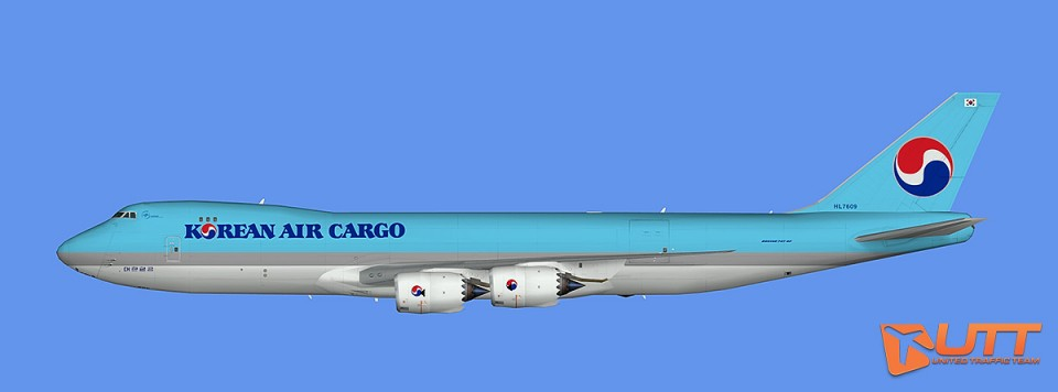 Korean Air Cargo Boeing 747-8F (FSX)