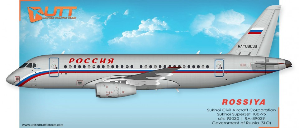 Rossiya Airlines (SLO) AI Sukhoi Superjet 100