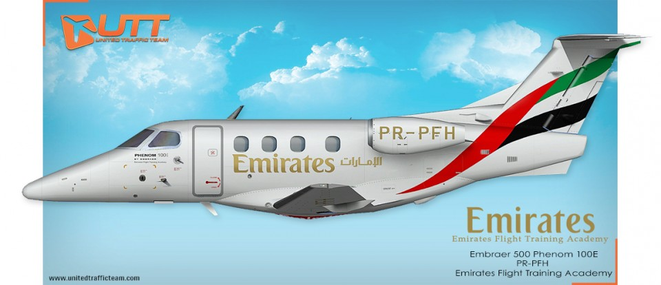 UTT AI Embraer Phenom-100 Emirates (Flight Academy) PR-PFH