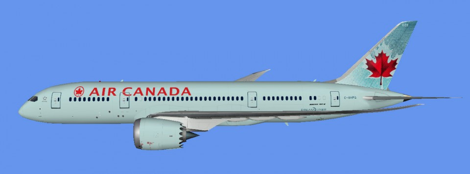 Air Canada for  UTT Boeing 787-8 FSX