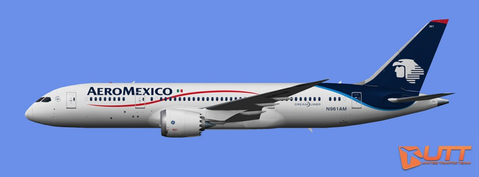 AeroMexico Boeing 787-8 (FSX,Prepar3D )