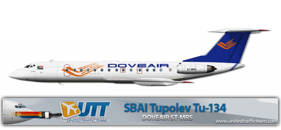 Doveair ST-MRS Tupolev Tu-134