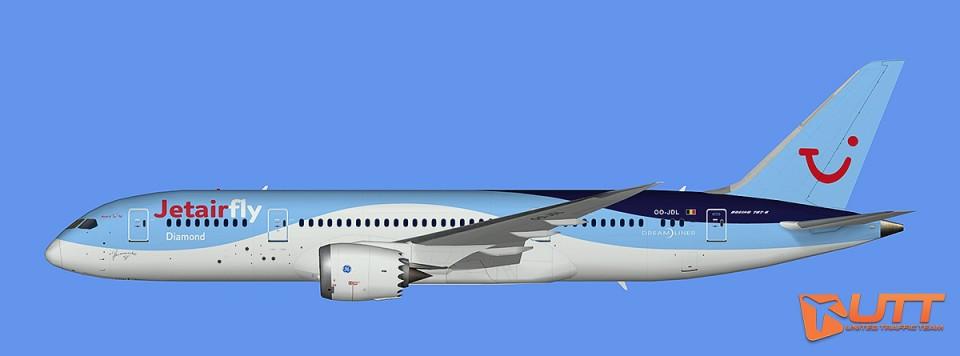 Boeing B787-8 Jetairfly (FSX,Prepar3D)