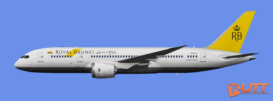 Royal Brunei Airlines Boeing 787-8 (FSX,Prepar3D)