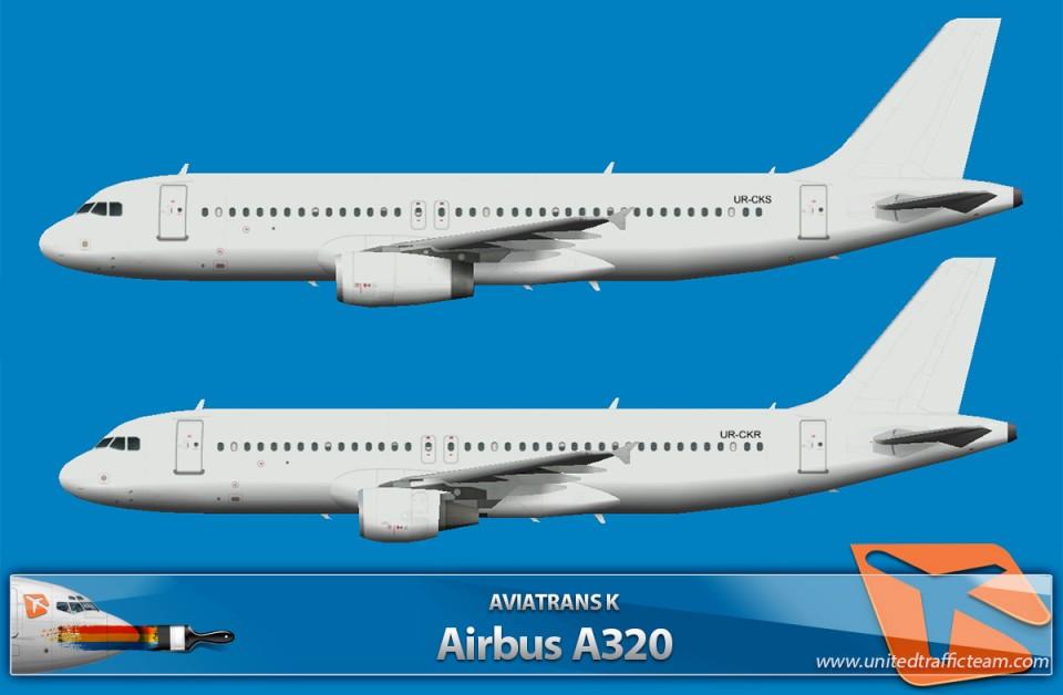 Aviatrans K  Airbus A320 (UR-CKR,UR-CKS)