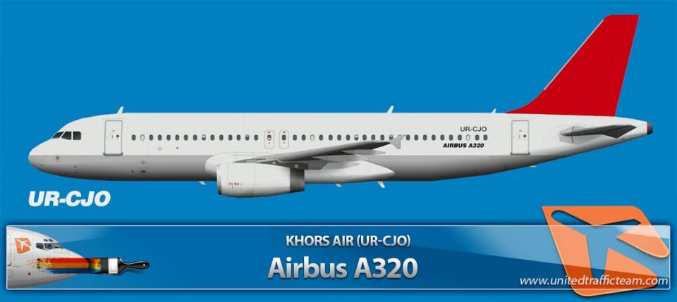 Khors Air Airbus A320 UR-CJO