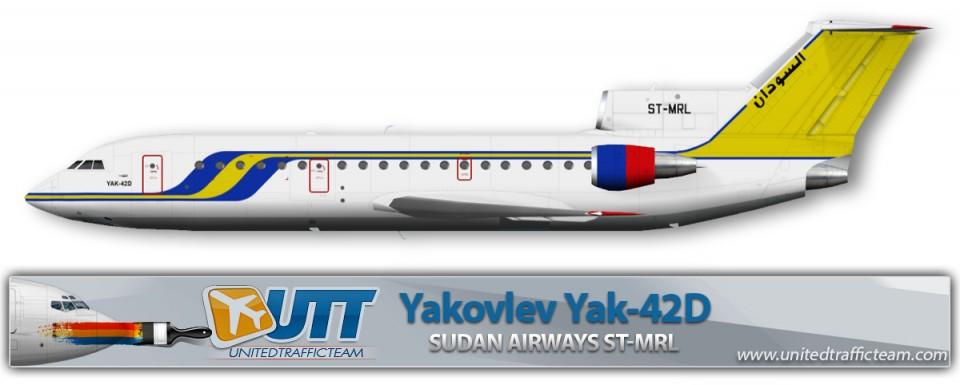Sudan Airways ST-MRL Yak-42D