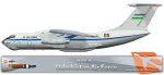 RATS Uzbekistan Air Force IL-76 05 RED